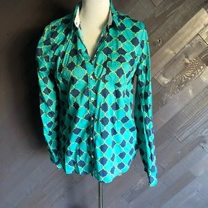 Stylus Turquoise Patterned Shirt